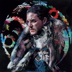 Winter is Coming by Zinsky - Embellished Canvas on Board sized 20x20 inches. Available from Whitewall Galleries