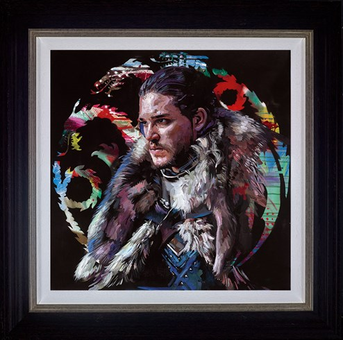 Winter is Coming by Zinsky - Framed Embellished Canvas on Board